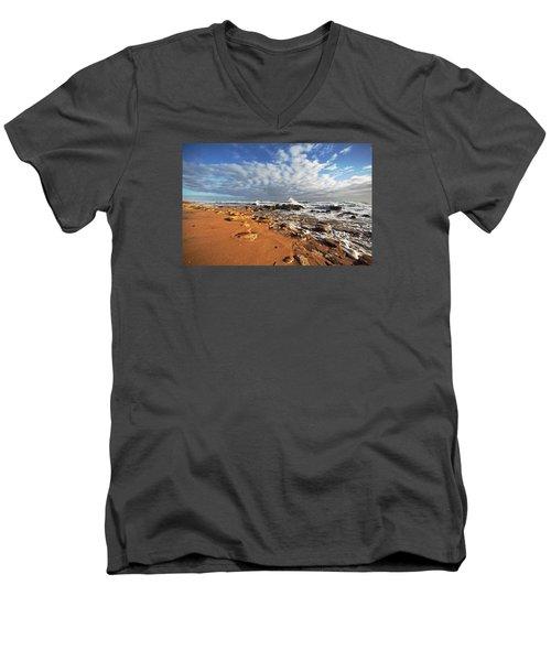 Beach View Men's V-Neck T-Shirt by Robert Och