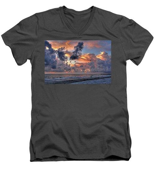 Beach Walk - Florida Seascape Men's V-Neck T-Shirt