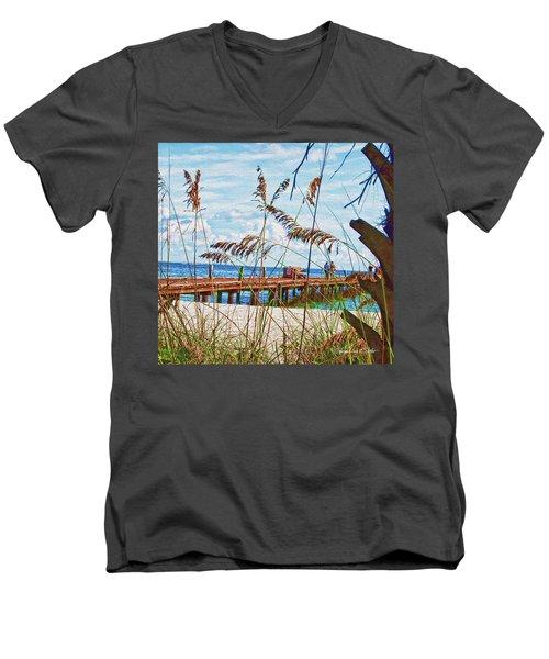 Beach Walk Men's V-Neck T-Shirt