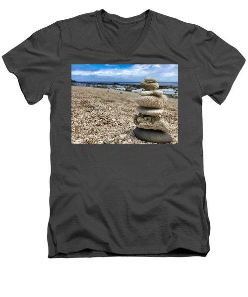 Beach Zen Men's V-Neck T-Shirt