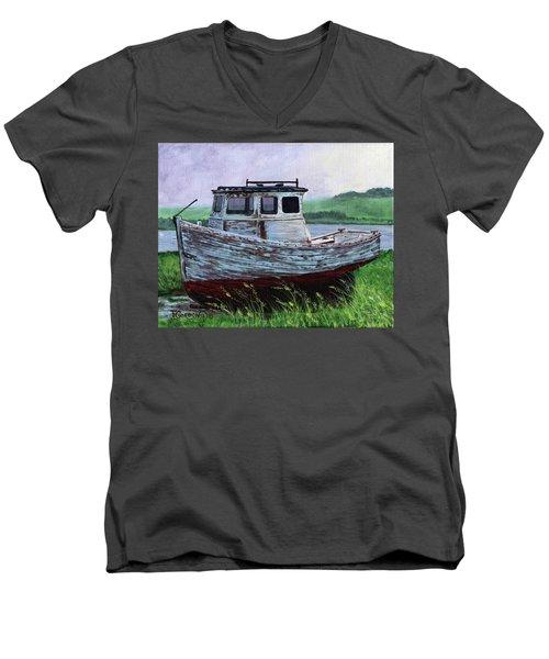 Beached At Bay Of Ayre Men's V-Neck T-Shirt