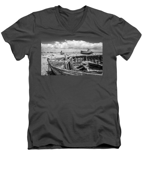 Beached Boats. Men's V-Neck T-Shirt