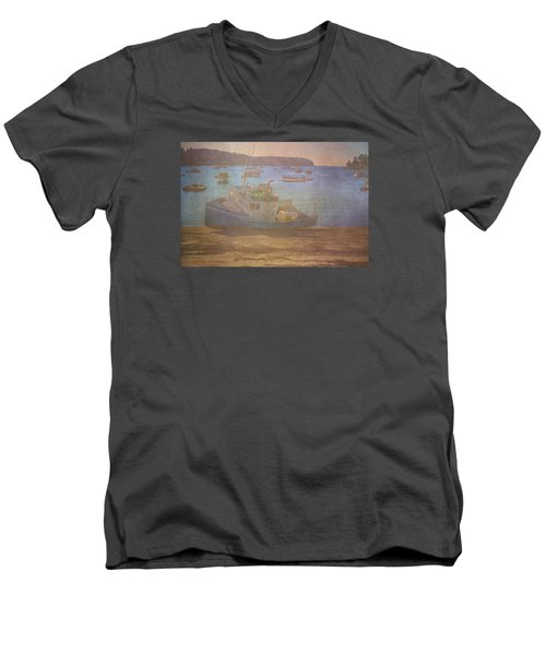 Beached For Cleaning Men's V-Neck T-Shirt by Tom Singleton