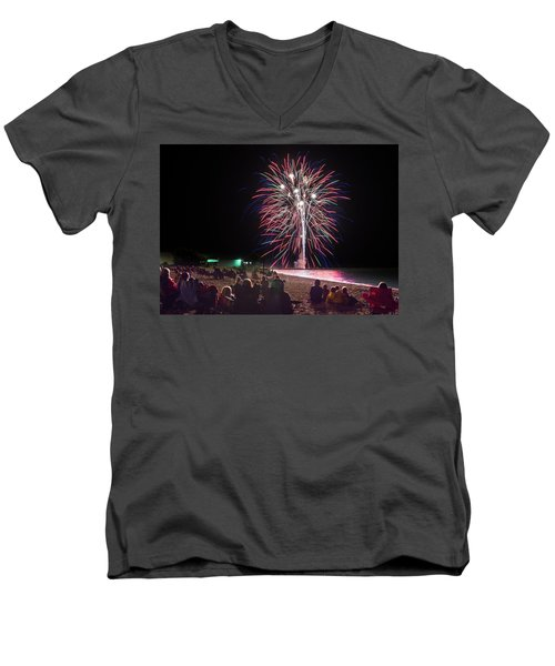 Men's V-Neck T-Shirt featuring the photograph Beachside Spectacular by Bill Pevlor