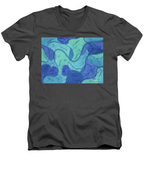 Beachy Three Men's V-Neck T-Shirt