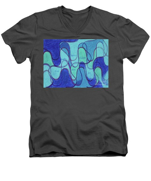 Beachy Two Men's V-Neck T-Shirt