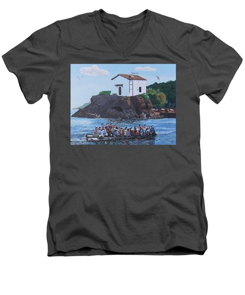 Beacon Of Hope Men's V-Neck T-Shirt by Eric Kempson