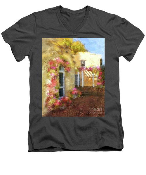 Men's V-Neck T-Shirt featuring the digital art Beallair In Bloom by Lois Bryan