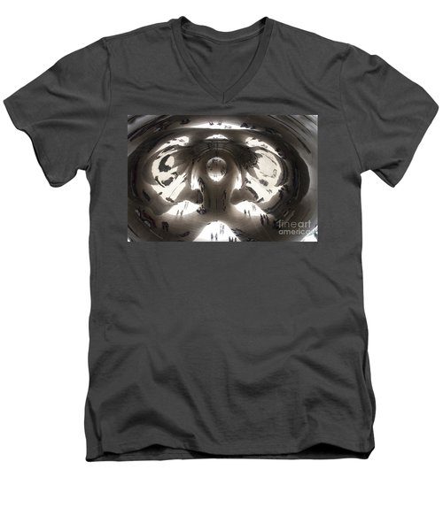 Bean Abstract No. 1 Men's V-Neck T-Shirt