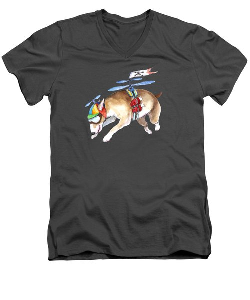 Beanie Bully  Men's V-Neck T-Shirt by Jindra Noewi