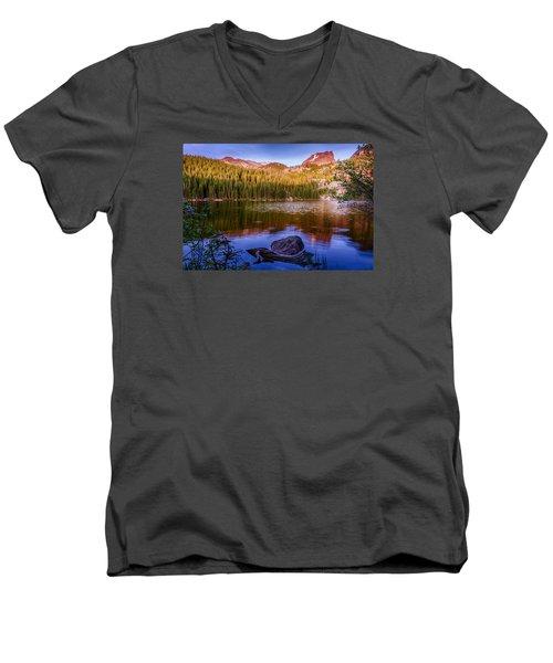Bear Lake 1 Men's V-Neck T-Shirt by Mary Angelini
