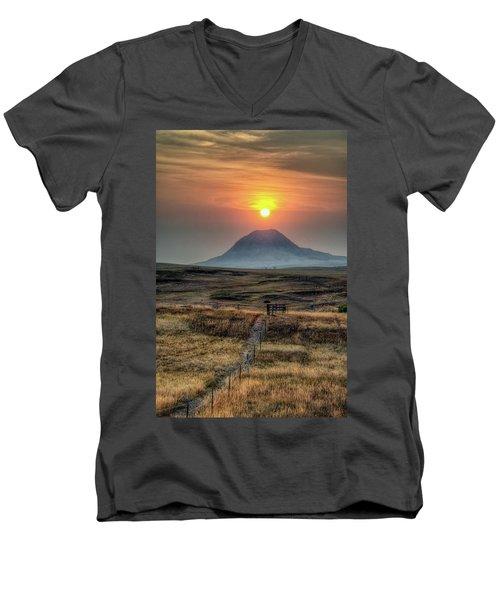 Bear Butte Smoke Men's V-Neck T-Shirt