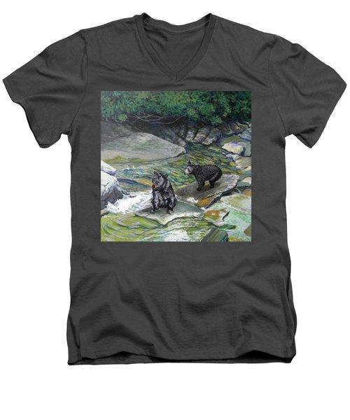Bear Creek Men's V-Neck T-Shirt
