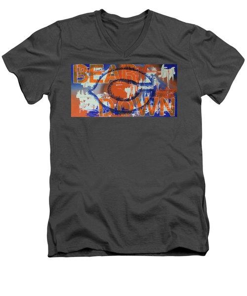 Bear Down Men's V-Neck T-Shirt
