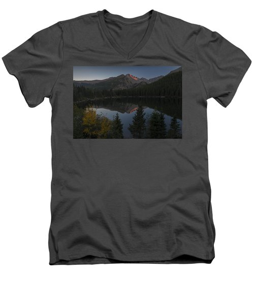 Bear Lake Men's V-Neck T-Shirt by Gary Lengyel