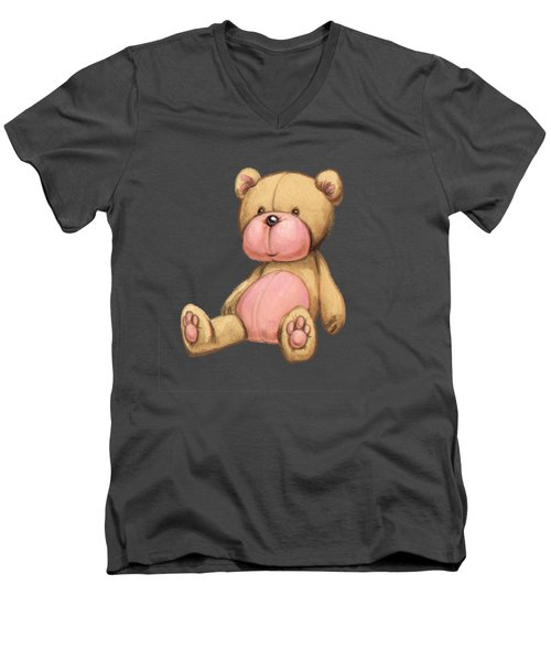 Bear Pink Men's V-Neck T-Shirt