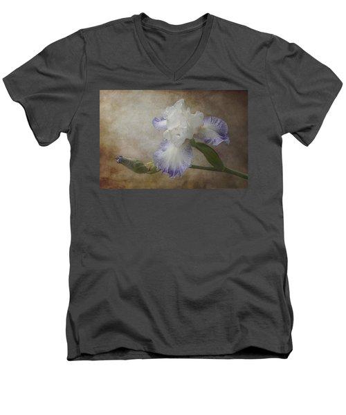 Bearded Iris Men's V-Neck T-Shirt by Patti Deters