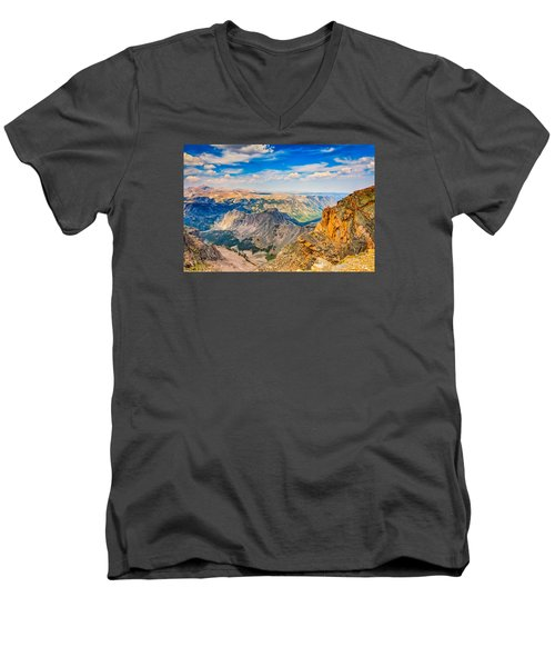 Men's V-Neck T-Shirt featuring the photograph Beartooth Highway Scenic View by John M Bailey