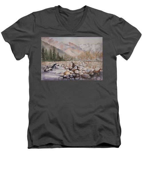 Beas River Manali Men's V-Neck T-Shirt