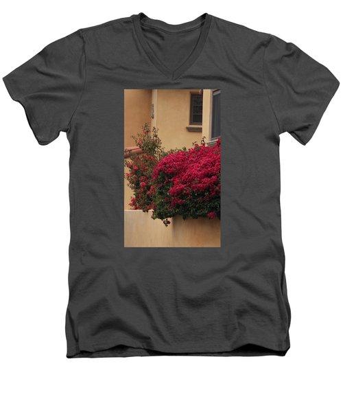 Beautiful Balcony With Bougainvillea Men's V-Neck T-Shirt
