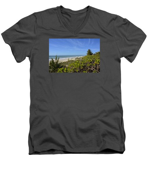 Beautiful Beachy Afternoon Men's V-Neck T-Shirt by Carol Bradley