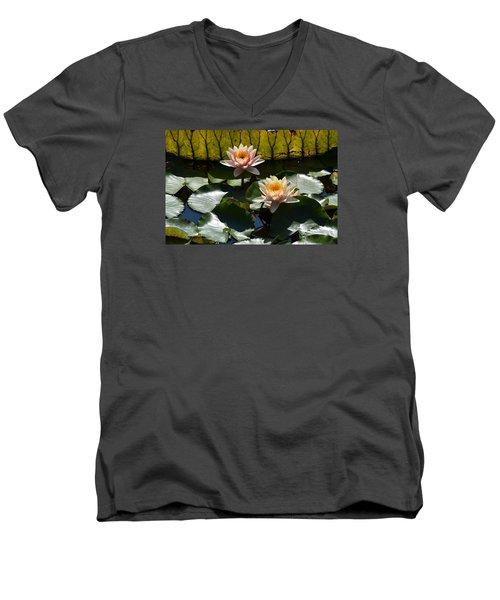 Men's V-Neck T-Shirt featuring the photograph Beautiful Dainties by Deborah  Crew-Johnson