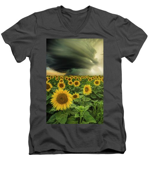 Beautiful Destruction  Men's V-Neck T-Shirt