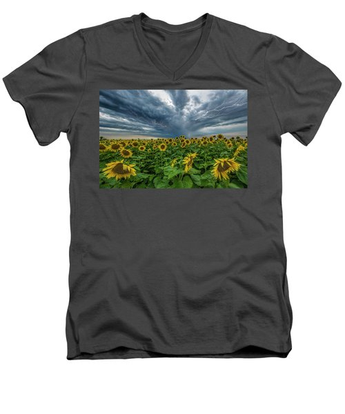 Men's V-Neck T-Shirt featuring the photograph Beautiful Disaster  by Aaron J Groen