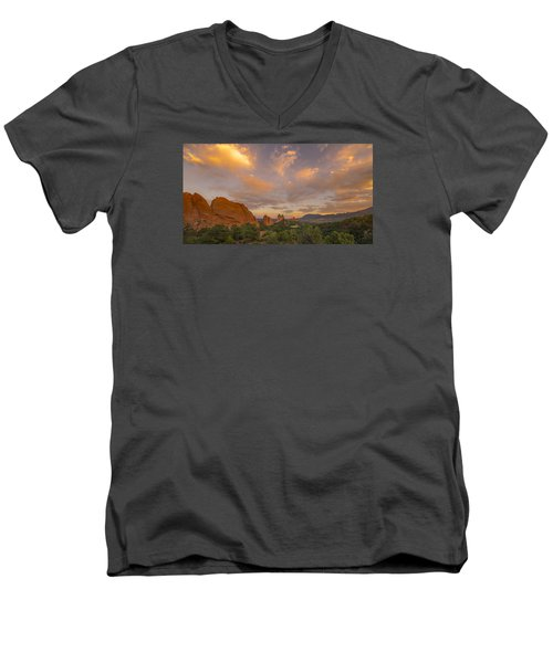 Beautiful Earth And Sky Men's V-Neck T-Shirt by Tim Reaves