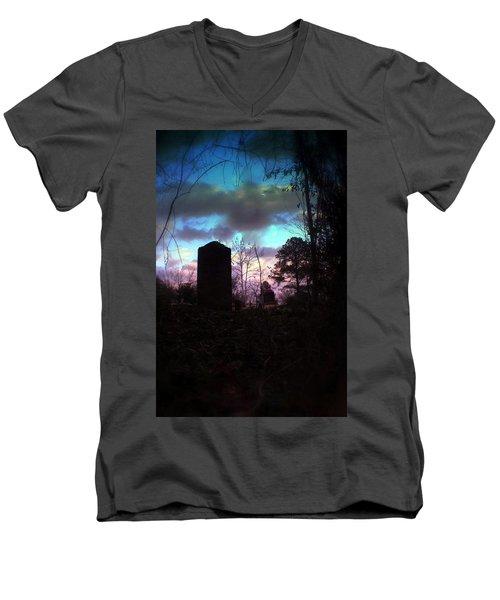 Beautiful Evening In The Graveyard Men's V-Neck T-Shirt
