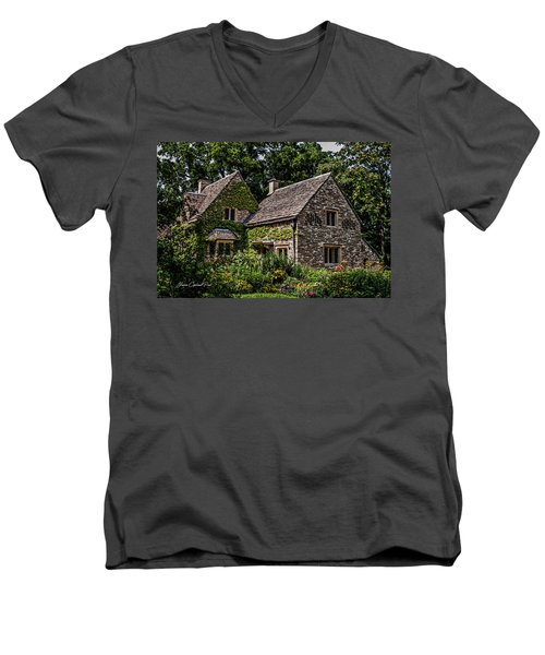 Men's V-Neck T-Shirt featuring the photograph Beautiful Home by Joann Copeland-Paul