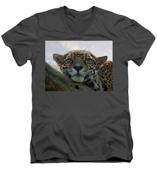 Beautiful Jaguar Men's V-Neck T-Shirt