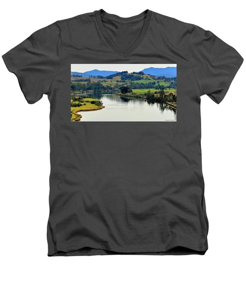 Beautiful Manning River 06663. Men's V-Neck T-Shirt