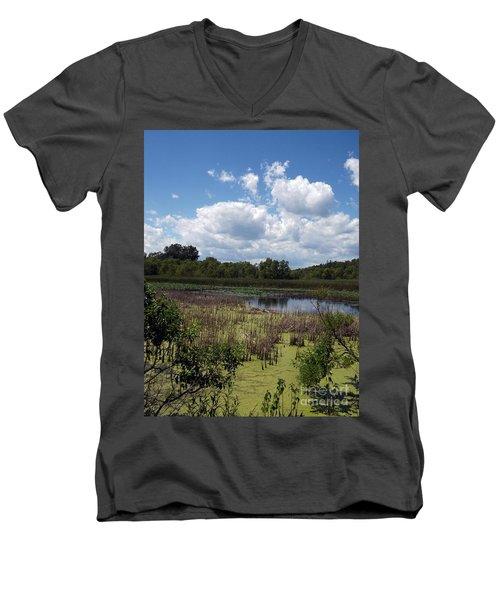 Beautiful Marsh View Men's V-Neck T-Shirt