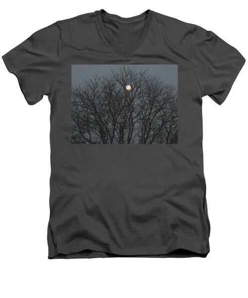 Beautiful Moon Men's V-Neck T-Shirt by Sonali Gangane