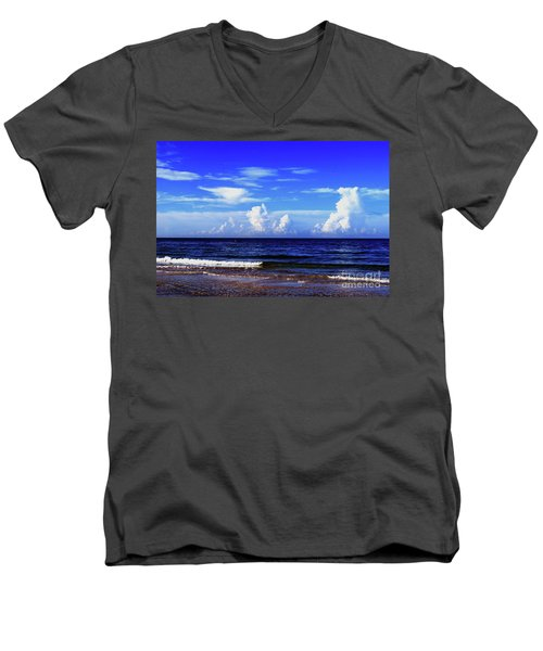 Men's V-Neck T-Shirt featuring the photograph Beautiful Ocean View by Gary Wonning