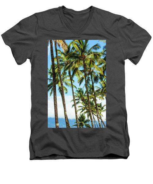 Men's V-Neck T-Shirt featuring the photograph Beautiful Palms Of Maui 16 by Micah May