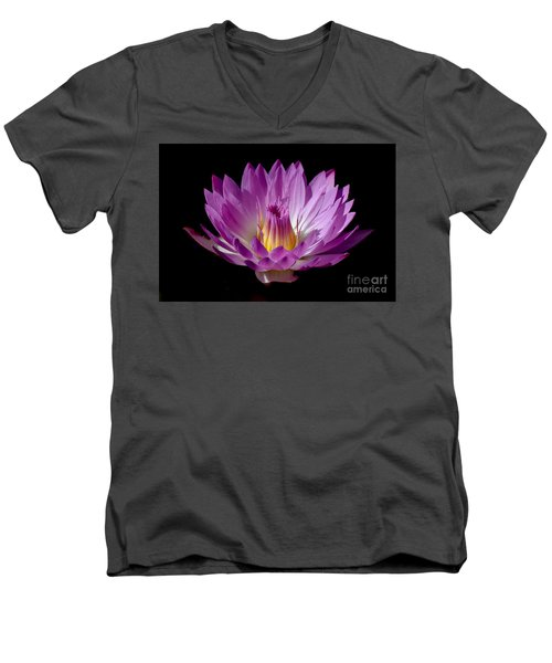 Beautiful Pink Pearl Lily Men's V-Neck T-Shirt