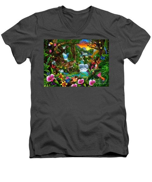 Beautiful Rainforest Men's V-Neck T-Shirt