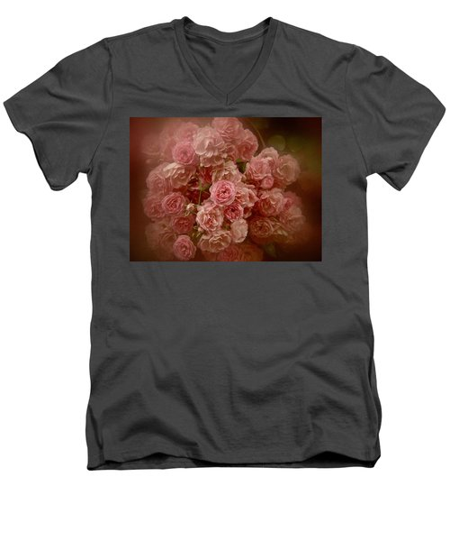 Men's V-Neck T-Shirt featuring the photograph Beautiful Roses 2016 No. 3 by Richard Cummings