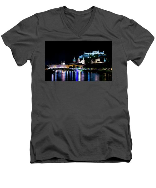 Men's V-Neck T-Shirt featuring the photograph Beautiful Salzburg by David Morefield