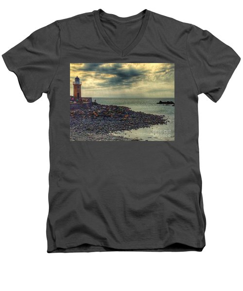 Beautiful Skies At Portpatrick 2 Men's V-Neck T-Shirt