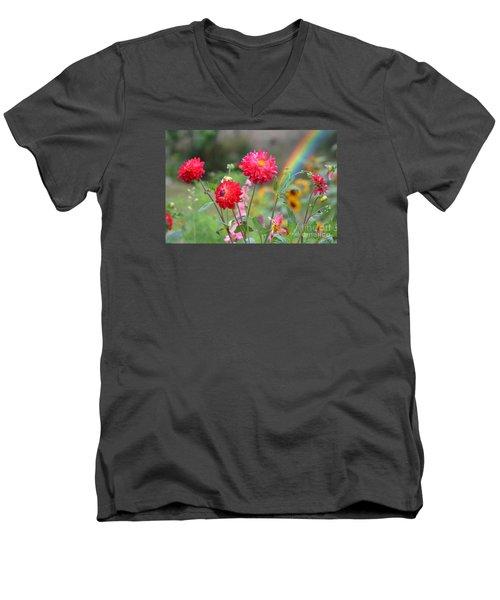 Beautiful Summer Flowers Men's V-Neck T-Shirt by Jim Fitzpatrick