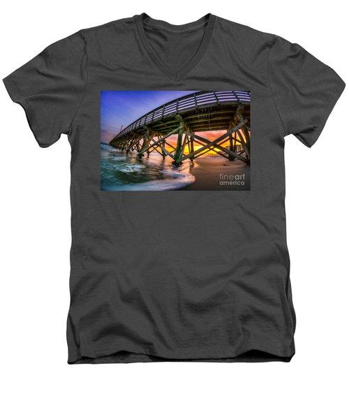 Beautiful Sunset In Myrtle Beach Men's V-Neck T-Shirt