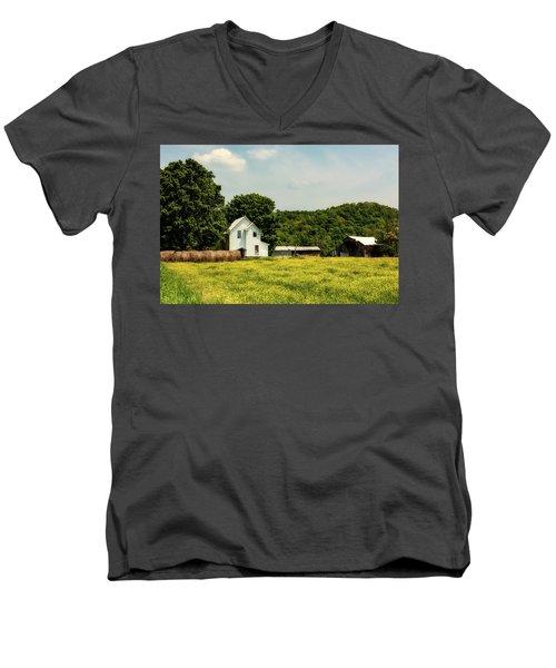 Beautiful West Virginia Men's V-Neck T-Shirt by L O C