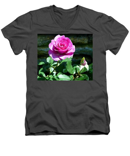 Men's V-Neck T-Shirt featuring the photograph Beauty And The Bud by Will Borden