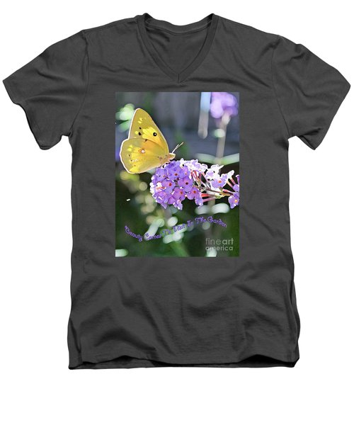 Beauty Comes To Visit Men's V-Neck T-Shirt