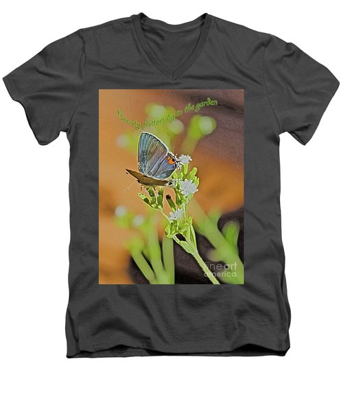 Beauty Flutters By Men's V-Neck T-Shirt