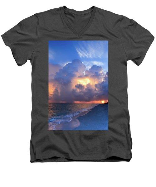 Beauty In The Darkest Skies II Men's V-Neck T-Shirt
