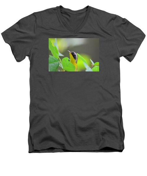 Beauty Men's V-Neck T-Shirt by Kathy Gibbons